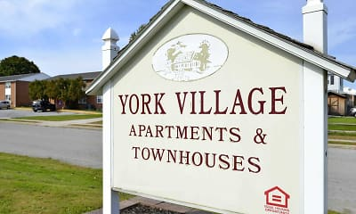 Community Signage, York Village Apartments, 2