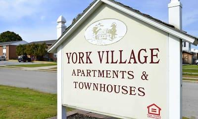 Community Signage, York Village Apartments, 2