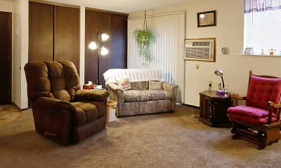 Living Room, Southview Apartments, 1