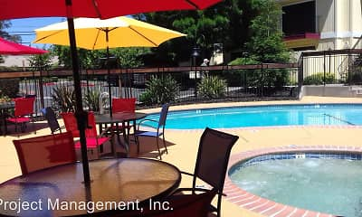Pool, El Camino Real Apartments, 1