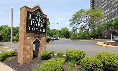 Community Signage, Lake Park Tower Apartments, 2
