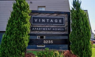 Community Signage, Vintage at 50th, 0