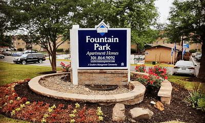 Community Signage, Fountain Park, 1