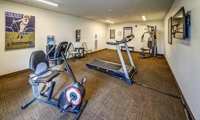 Fitness Weight Room, Pleasant Run Senior Apartments, 2