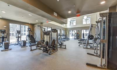 Fitness Weight Room, The Orleans At Fannin, 2