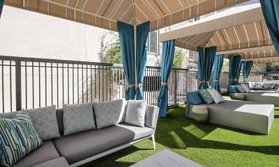 Courtyard, Peak 16 Apartments, 2