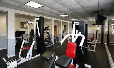 Fitness Weight Room, Pebblebrook Apartments, 2