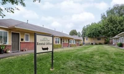 Community Signage, Clinton Court, 2