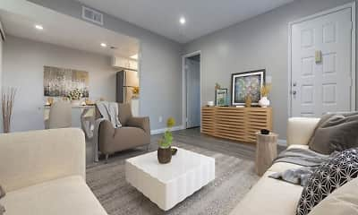 Living Room, Laurel Heights Apartments, 0