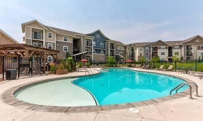 Pool, Bucking Horse Apartments, 0