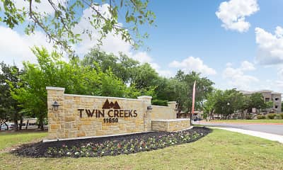 Community Signage, Twin Creeks At Alamo Ranch Apartments, 2