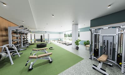 Fitness Weight Room, Hub Tucson Park Ave, 1