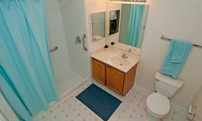 Bathroom, Manor at Clopper's Mill - Senior Living 62+, 2
