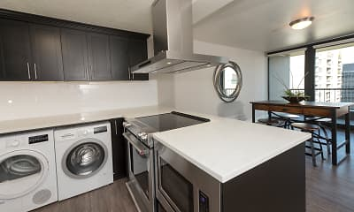 Kitchen, Harrison Tower Apartments, 1