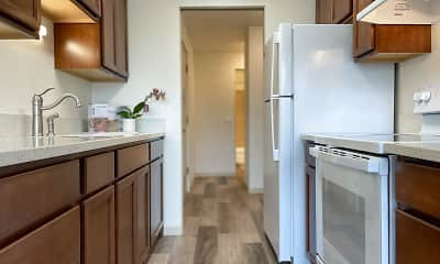Kitchen, Arllis Arms Apartments, 1