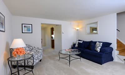 Living Room, Walnut Grove Townhomes, 1