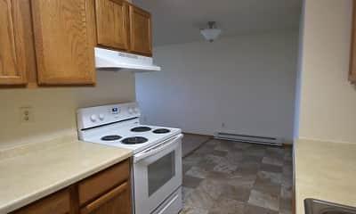 Kitchen, Sallie Apartments, 0