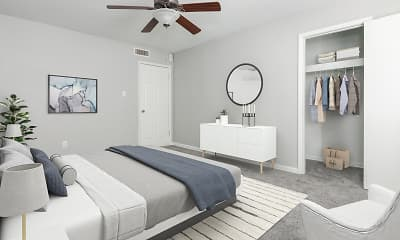 Bedroom, Sage Pointe Apartments & Townhomes, 2