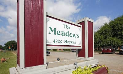 Community Signage, Meadows Apartments, 2