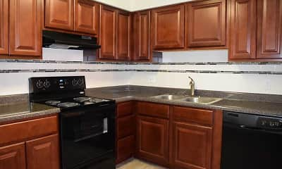 Kitchen, Weblin Place Apartments, 1