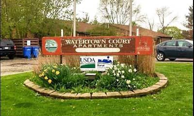 Community Signage, Watertown Court, 2