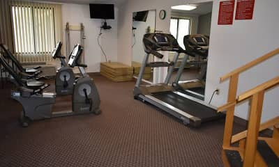 Fitness Weight Room, Hampton Woods, 2