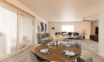 Living Room, Edgemont Apartments, 0