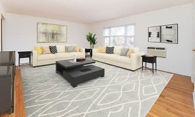 Living Room, Duncan Hill Apartments & Townhomes, 0