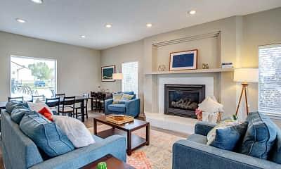 Living Room, Deerfield Townhomes, 1
