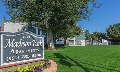 Community Signage, Madison Park Apartments, 2
