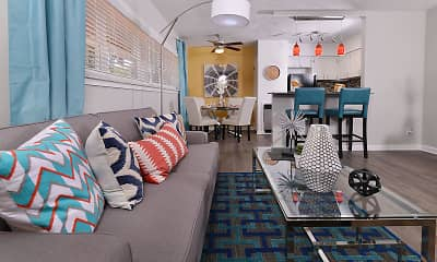 Living Room, South and Madison Apartments, 0