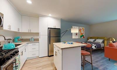 Kitchen, Rancho Los Feliz, 1