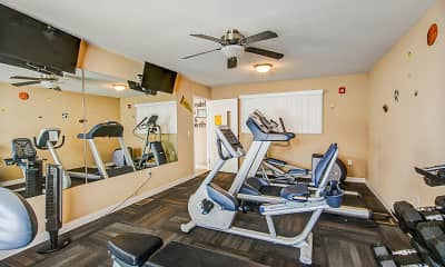 Fitness Weight Room, The Villas at Marshfield, 2
