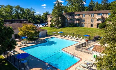 Pool, Top Of The Hill Apartments, 1