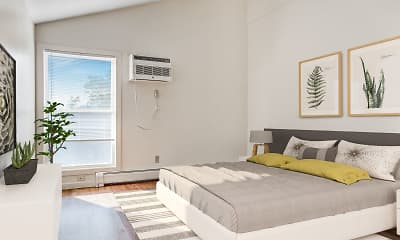 Bedroom, Powdermill Village Apartments, 1