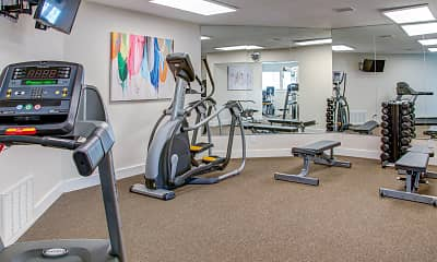 Fitness Weight Room, Royal Pointe Apartments and Townhomes, 2