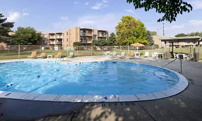 Pool, Sherry Apartments, 2