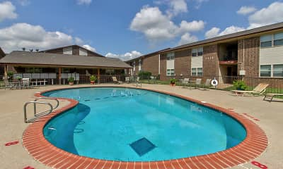 Pool, Casady Apartments, 0