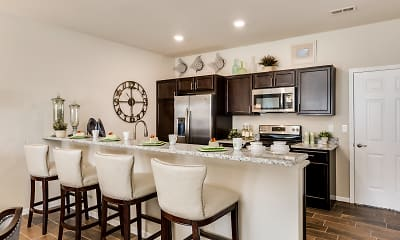 Kitchen, Heron Springs Townhomes and Apartments, 2