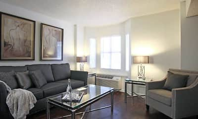 Living Room, Fountainbleau Apartments, 0