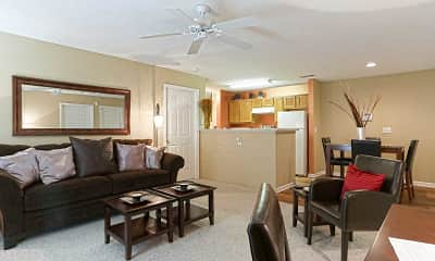 Living Room, Palmetto Pointe Apartments & Townhomes, 1
