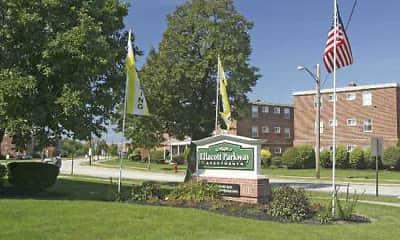 Community Signage, Ellacott Parkway Apartments, 0