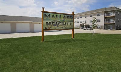 Community Signage, Mallard Heights Apartments, 2