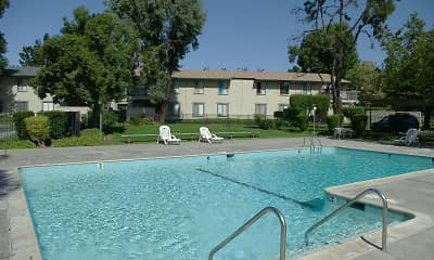 Pool, Garden Village Apartments, 0