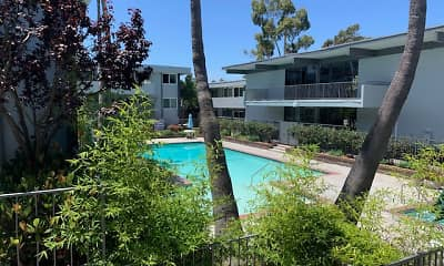 Pool, Torrance Venture Apartments, 1