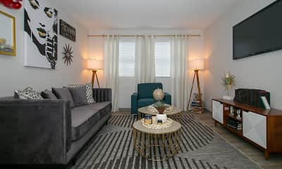 Living Room, The Canvas Apartments, 0
