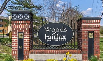 Community Signage, Woods of Fairfax Apartments of Lorton, 1
