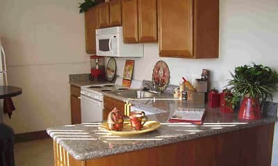 Kitchen, Collins Terrace Apartments, 1