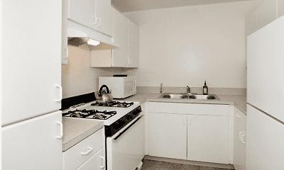 Kitchen, Town Plaza Apartments, 2