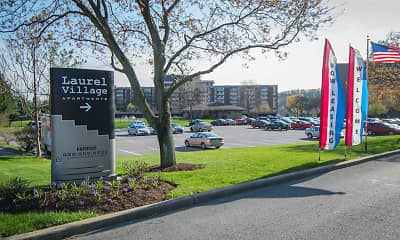 Community Signage, Laurel Village Apartments, 0